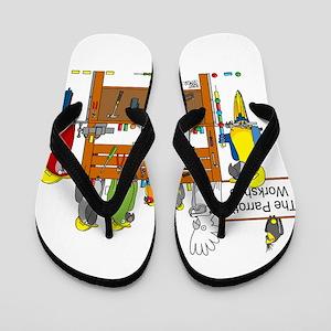 The Parrot's Workshop Logo Flip Flops