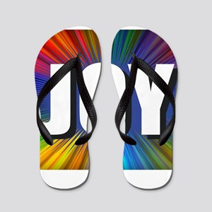 Joy Rainbow Burst Flip Flops