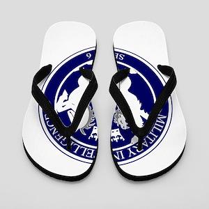 MI6 Logo Button Flip Flops
