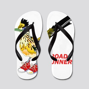 Road Runner in Sneakers Flip Flops