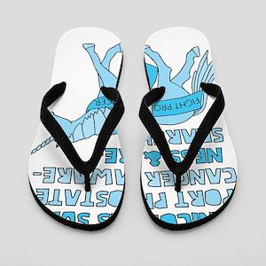Unicorns Support Prostate Cancer Awaren Flip Flops