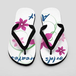 World's Greatest Aunt (Flowery) Flip Flops