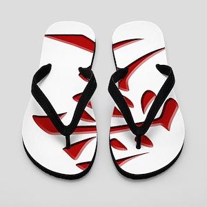 LOVE - Japanese Kanji Script Symbol Flip Flops