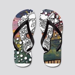 Sugar Skulls Color Splash Designs #WITH Flip Flops