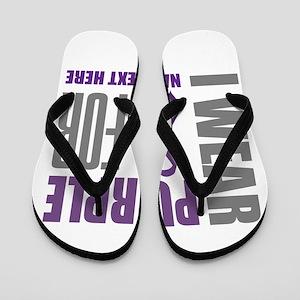 Purple Awareness Ribbon Customized Flip Flops