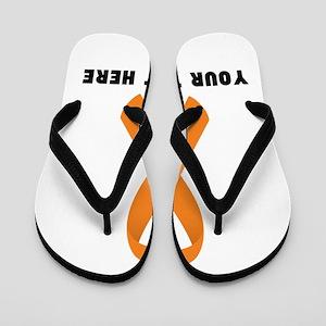 Orange Awareness Ribbon Customized Flip Flops