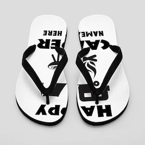Happy Camper Personalized Flip Flops