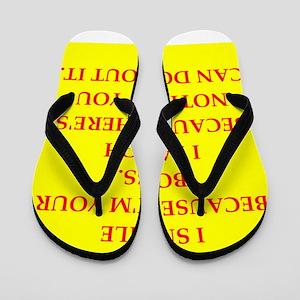 boss joke Flip Flops