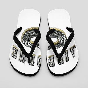 US Army Airborne Wings Silver Flip Flops