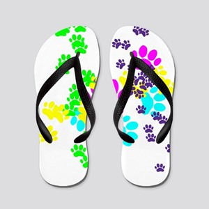 Pawprints Flip Flops