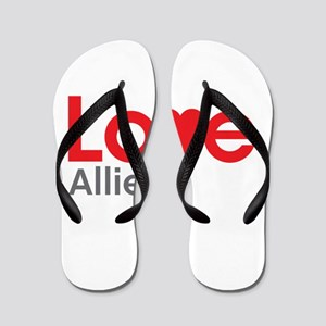 I Love Allie Flip Flops