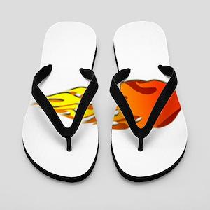 Racing Flames Flip Flops