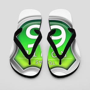 Texas Route 66 - Green Flip Flops