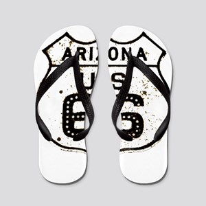 Route 66 Old Sign Arizona Flip Flops