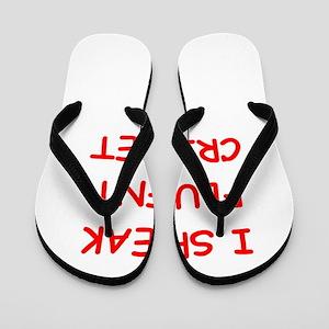 i love cricket Flip Flops