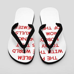 skulls of enemies Flip Flops
