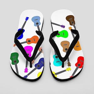 Rainbow Ukuleles Flip Flops