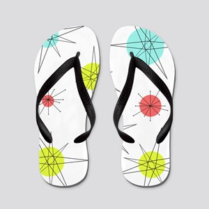Atomic Era Art Flip Flops