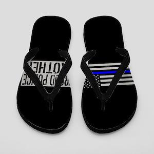 Police: Proud Brother (Black Flag Blue Flip Flops