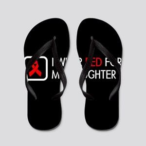 Red Ribbon: Red for my Daughter Flip Flops
