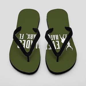 Deer: Everglades, Florida Flip Flops