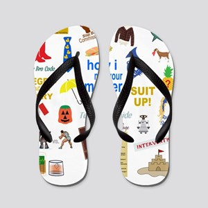 HIMYM Quote and Symbol Collage Flip Flops