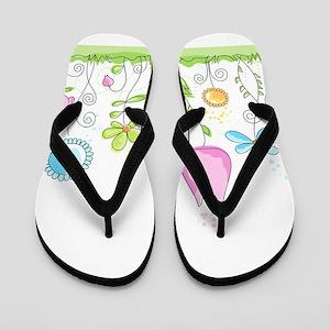 Spring Flowers Flip Flops