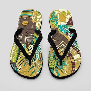 African Woman Flip Flops