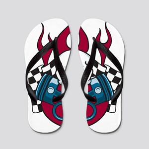 Hotrod - Race - Mechanic Flip Flops
