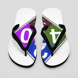 420 caution blue Flip Flops