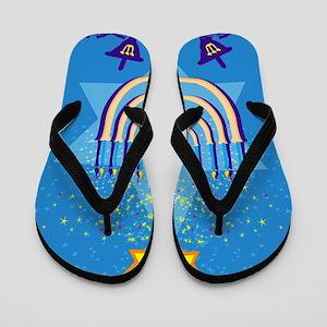 hanukkah menorah Flip Flops