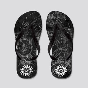 Supernatural Black Flip Flops