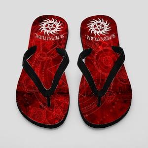 Supernatural Red Flip Flops