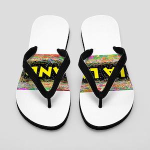 La La Land Flip Flops