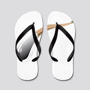 Bendy Arrow Arrow Flip Flops
