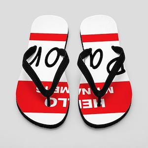 Pastor Name Tag Flip Flops