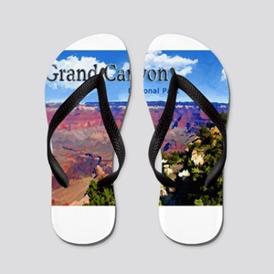 Grand Canyon NAtional Park Poster Flip Flops