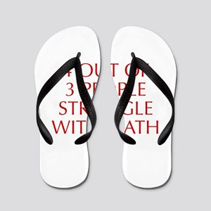 4-OUT-OF-3-PEOPLE-OPT-RED Flip Flops