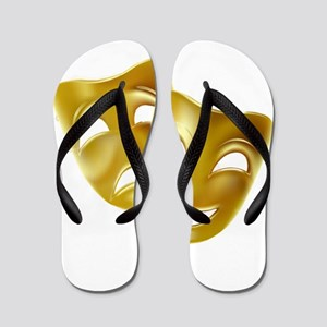 Masks of Comedy and Tragedy Flip Flops