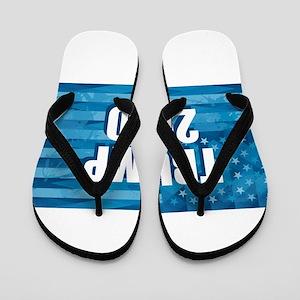Trump 2020 Blue Flag Flip Flops