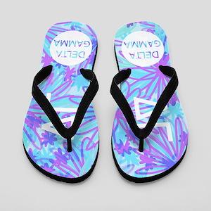 Delta Gamma Purple Flip Flops