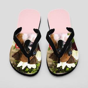 Boxer Puppy Flip Flops