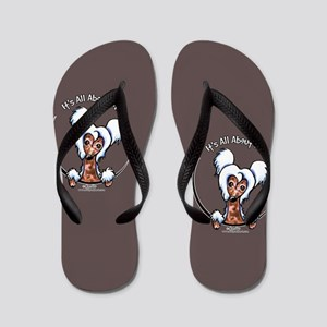 Chinese Crested IAAM Flip Flops