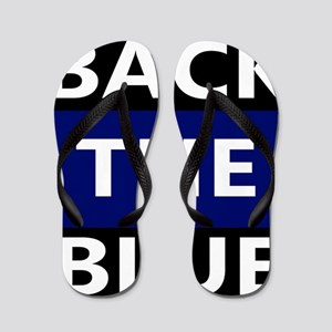 BACK THE BLUE Flip Flops