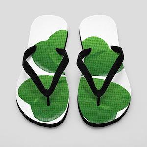 St Patrick Shamrock T Flip Flops