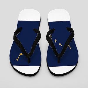 Musical Flag of Alaska Flip Flops