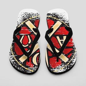 Alpha Omega Stained Glass Flip Flops