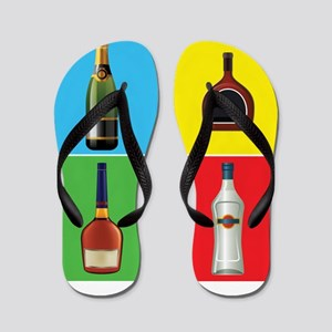 liquor pop art Flip Flops