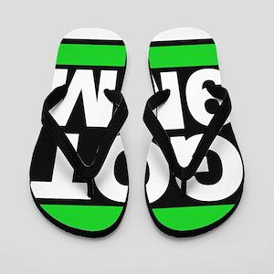 got 9mm green Flip Flops
