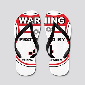 protected by 44 shield Flip Flops
